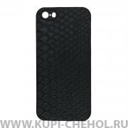 Чехол-накладка Apple iPhone 5/5S/SE 27035 Рептилия черный