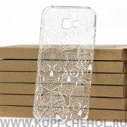 Чехол-накладка Samsung Galaxy A7 (2017) A720 Kruche Skull White