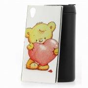 Чехол-накладка Sony Xperia XA1 Plus Мишка с сердцем
