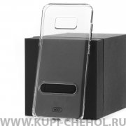 Чехол-накладка Samsung Galaxy S8 Plus Hdci прозрачный с черной подставкой