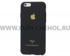 Чехол-накладка Apple iPhone 6 / 6S чёрный бархатный
