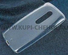 Чехол-накладка Motorola Moto X Play iBox Crystal прозрачный глянцевый 1.25mm