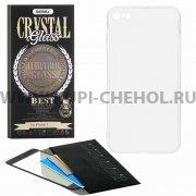 Защитное стекло + чехол Apple iPhone 7 4.7 Remax Crystal Glass Full Black