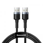 Кабель USB(M)-USB(M) Baseus Cafule Male Dark gray 2A 1m