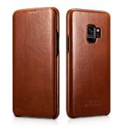 Чехол книжка Samsung Galaxy S9 Icarer Brown