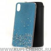 Чехол-накладка Apple iPhone XS Max Конфетти голубой
