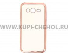 Чехол-накладка Samsung Galaxy J5 Hallsen прозрачный с красными краями без логотипа