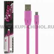 USB - micro USB кабель Remax RC-001m Pink 2м