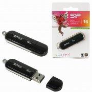 Флеш Silicon 322 Luxmini 16Gb Black USB 2.0