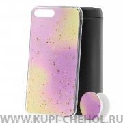 Чехол-накладка Apple iPhone 7 Plus с попсокетом Yellow/Purple