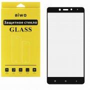 Защитное стекло Xiaomi Redmi Note 4/4 Pro Aiwo Full Screen черное 0.33mm
