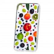 Чехол-накладка iPhone XS Max Kruche Print Fruits
