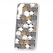 Чехол-накладка Samsung Galaxy A20S Kruche Print Медвежата