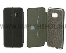 Чехол книжка Samsung Galaxy S7 Edge Fashion Case с визитницей чёрный
