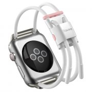 Ремешок для Watch 3/4/5 42mm Baseus LetsGo Lockable Rope Strap White/Pink