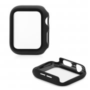 Защитное стекло iPhone Watch 44mm Skinarma Shield Black с бампером