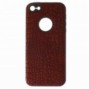 Чехол-накладка Apple iPhone 5/5S 10027 Рептилия красный