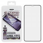 Защитное стекло iPhone XS Max/11 Pro Max WK Thick Panda 6D Black 0.33mm