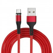 Кабель USB-Micro Usams Magnetic Red 2m