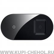 Беспроводное З/У для телефона и наушников Baseus Simple 2in1 Wireless Charger Black