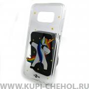 Чехол-накладка Samsung Galaxy S8 Plus Kruche Единорожка