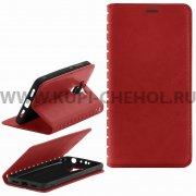 Чехол книжка Xiaomi Redmi 4 Book Case New красный Вид1