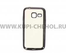 Чехол-накладка Samsung Galaxy J1 mini Hallsen прозрачный с черными краями без логотипа