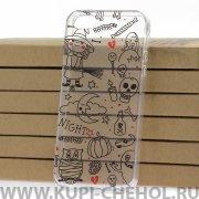 Чехол-накладка iPhone 5/5S Kruche Print Хэллоуин 1