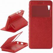 Чехол книжка Lenovo A6000 П19025 с окном красный