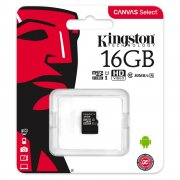 Micro SD 16Gb class 10 к/п Kingston UHS-I Canvas Select 80Mb/s