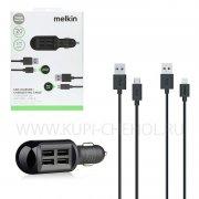 АЗУ 4USB+2кабеля (iP/Micro) Melkin 635 1.2m Black