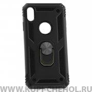 Чехол-накладка iPhone XS Max 42002 с кольцом-держателем черный