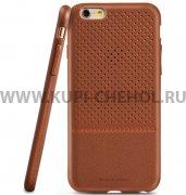 Чехол силиконовый Apple iPhone 6 / 6S 4.7 П43063 Peacocktion коричневый