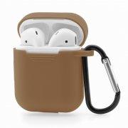 Чехол для Apple AirPods силиконовый коричневый