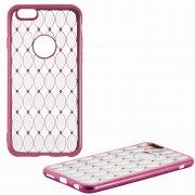 Чехол-накладка Apple iPhone 6/6S 8438 темно-розовый