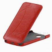 Чехол флип HTC Desire 300 Brauffen A13R64 красный