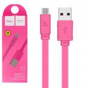 Кабель USB-Micro Hoco X5 Bamboo Pink 1m