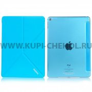 Чехол откидной Apple iPad 6/Air 2 Remax Transformer Blue