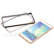Чехол-бампер Samsung A700F Galaxy A7 металл 0.7mm 7721 золотой