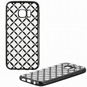 Чехол-накладка Samsung S7 Ромбы 9204 черный