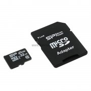 Micro SD 32Gb Class 10 к/п Silicon UHS-I Elite+адаптер