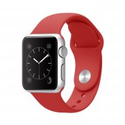 Ремешок для Watch 42mm M/L силиконовый красный