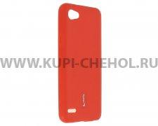 Чехол-накладка LG Q6 Cherry красный