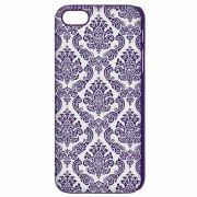Чехол-накладка Apple iPhone 5/5S Кружево 9420 фиолетовый