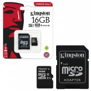 Micro SD 16Gb class 10 к/п Kingston UHS-I Canvas Select 80Mb/s+адаптер