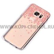 Чехол-накладка Samsung Galaxy S7 9172 со стразами