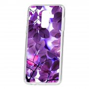 Чехол-накладка Samsung Galaxy A6 Plus (2018) A605f/J8 2018 Kruche Print Purple leaves