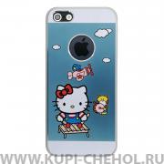 Чехол-накладка Apple iPhone 5/5S/SE Hello Kitty голубой