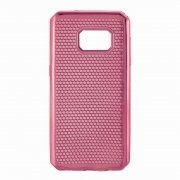 Чехол-накладка Samsung Galaxy S7 тёмно-розовый 9106