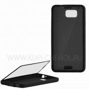 Чехол силиконовый Samsung Galaxy Alpha G850f Jasmine Slim 8226 чёрный